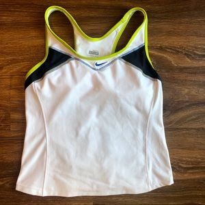 Nike Dri Fit Lined Racerback Fitted Tank Size M